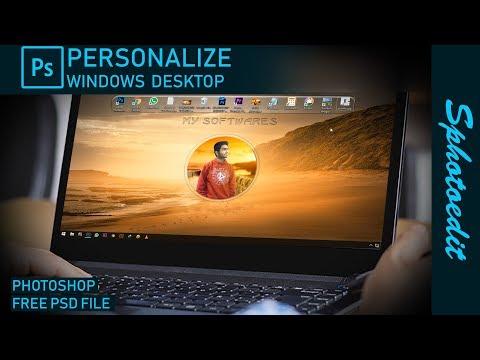 Create own desktop wallpaper in Photoshop _ Photoshop tutorial _ in hindi thumbnail