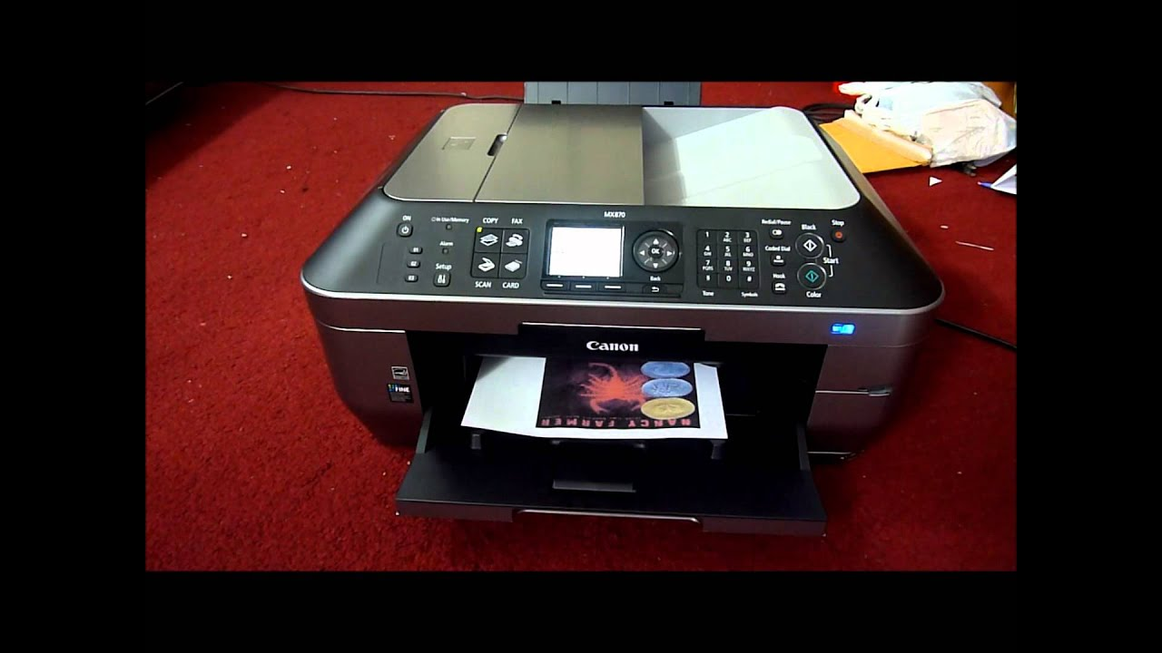 Canon Pixma Mx870 Review - YouTube
