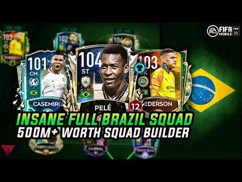 OMG! EXPENSIVE FULL BRAZIL SQUAD BUILDER | TEAM UPGRADE | FULL BRAZIL TEAM | FIFA MOBILE 20 |