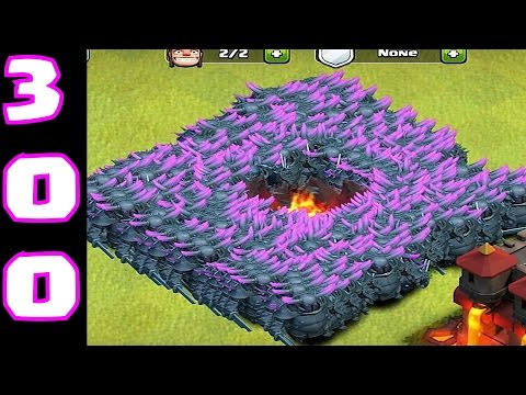 Clash of clans - 299 P.E.K.K.A  Mass attack! ( ipad gameplay )