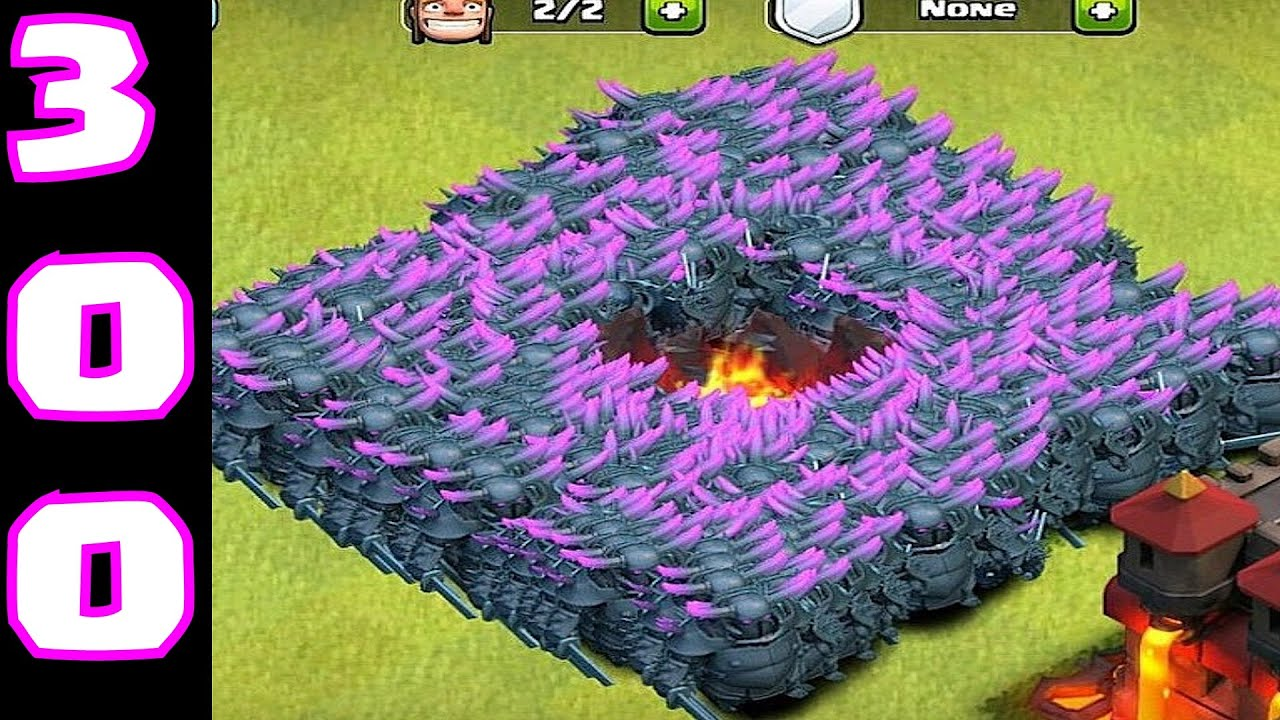 Clash Of Clans 299 Pekka Mass Attack Ipad Gameplay