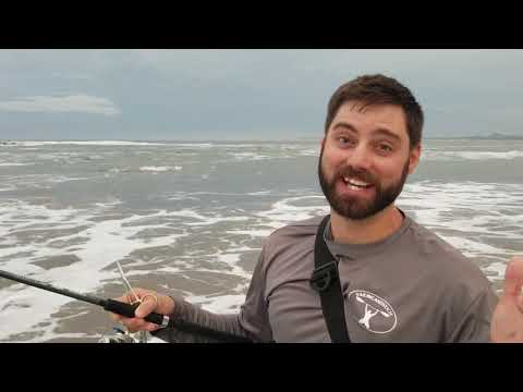 Surf Fishing Mazatlan Mexico! (Using Bass Rods)