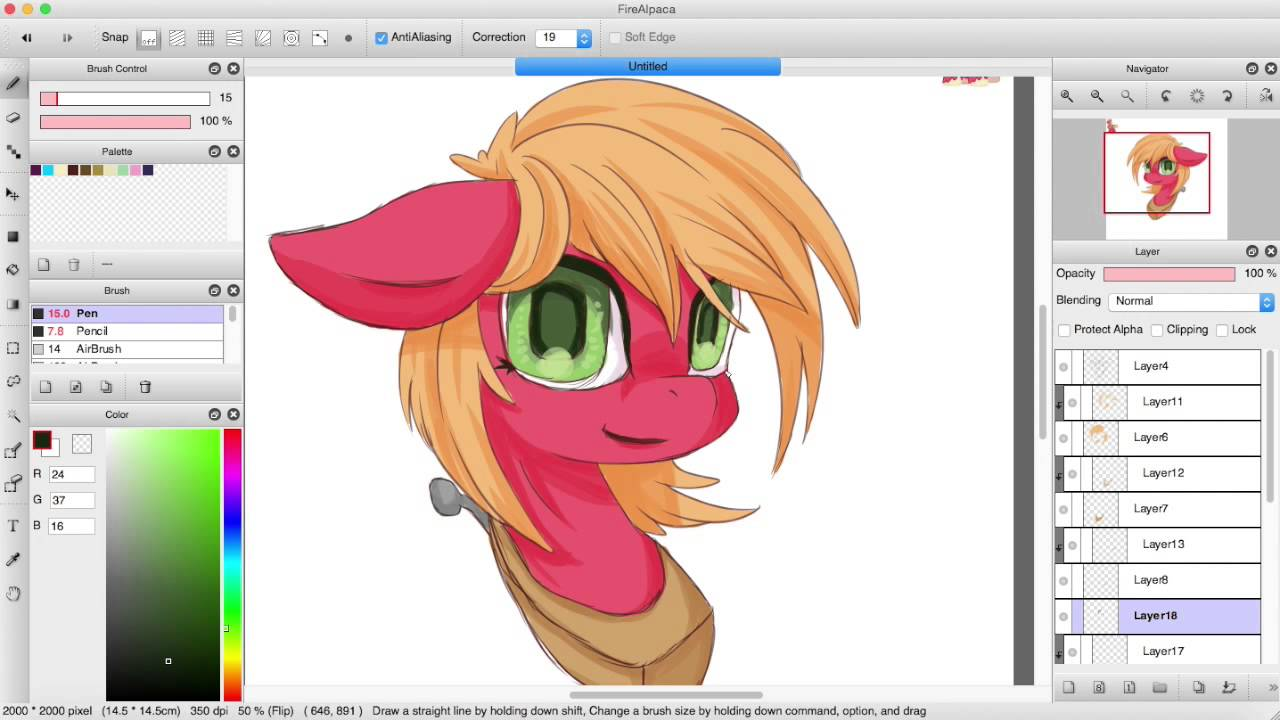 My Little Pony Big Mac Genderbend Speedpaint In Firealpaca