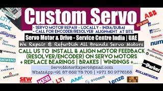 Custom Servo Dubai Servo Motor Encoder Align Resolver Adjust Repair UAE Oman Kuwait Qatar Saudi KSA