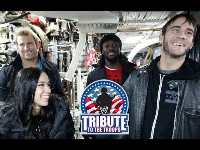 WWE Superstars board the USS Alabama Submarine: 2013 Tribute the Troops Travel Video