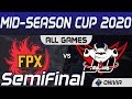 FPX Vs JDG Highlights ALL GAMES Day 3 Mid Season Cup 2020 Semi Finals FunPlus Phoenix Vs JD Gaming B