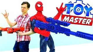 Toy Master и Человек Паук против Джокера и Бэйна.
