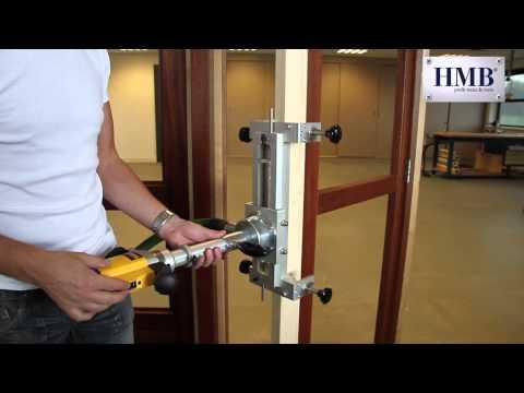 Hmb instructiefilm 3 frezen scharnieren in bestaande b for Inmeetmal voor deuren