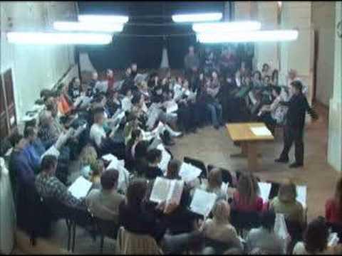 Choral rehearsal in Ekaterinburg, Russia