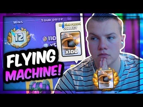 FLYING MACHINE OP? 12 Win Draft Tips & Tricks! LIVE Gameplay - Clash Royale