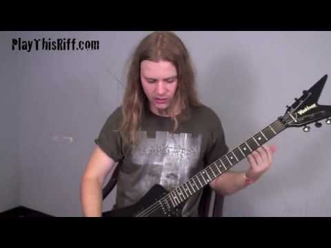 DECAPITATED Developing Speed PlayThisRiff.com guitar lesson