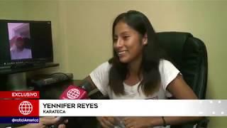 Jefferson Farfn apoyar a joven karateca para que viaje al Sudamericano de Bolivia