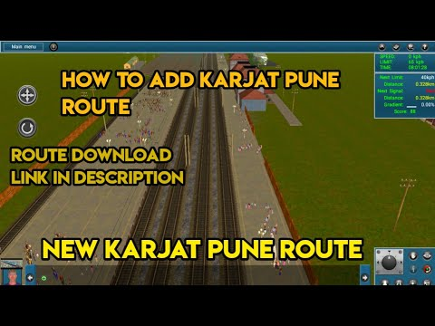 😍How To Add Karjat Pune Route In TRAINZ SIMULATOR Android🔥