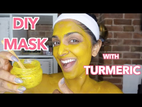 DIY Mask! How To Use Turmeric to Brighten Skin, Reduce Dark Circles and Acne Scars, & Hair Growth - YouTube