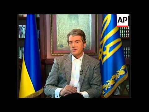 Gazprom cuts gas to Ukraine, Kiev, Yushchenko