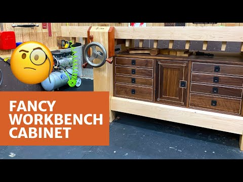 Fancy Workbench Cabinet With String Inlay