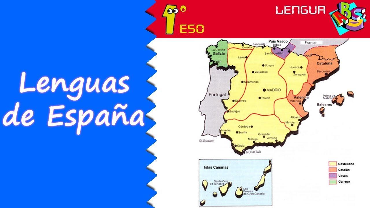 Dialectos De España Mapa.Las Lenguas De Espana 1º Eso Lengua