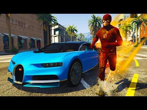BEST GTA 5 Mods - WORLDS FASTEST CAR vs THE FLASH!! - GTA V The Flash Mod Gameplay! (GTA 5 Mods)