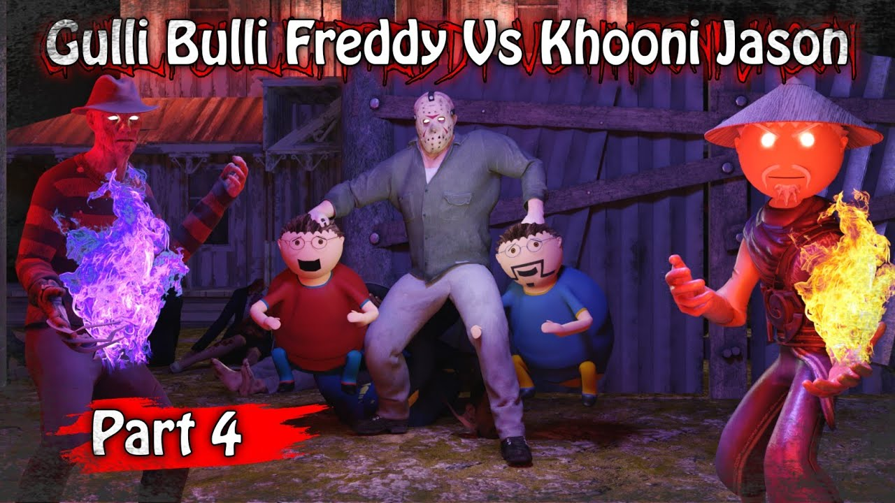 Gulli Bulli Freddy Vs Khooni Jason Part 4 || Animated in Hindi || Scary Toons || MJH