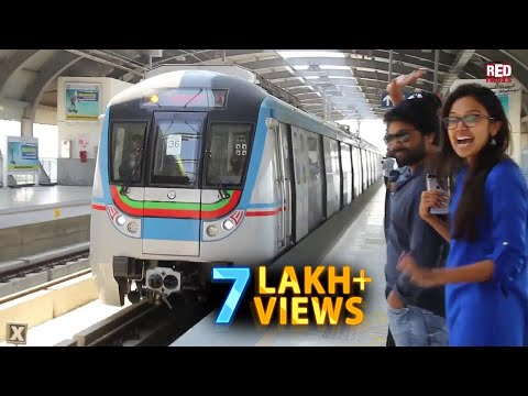 Metro train in Hyderabad Tour with | Red FM RJs! | Redfmhyderbad | Hyderabad