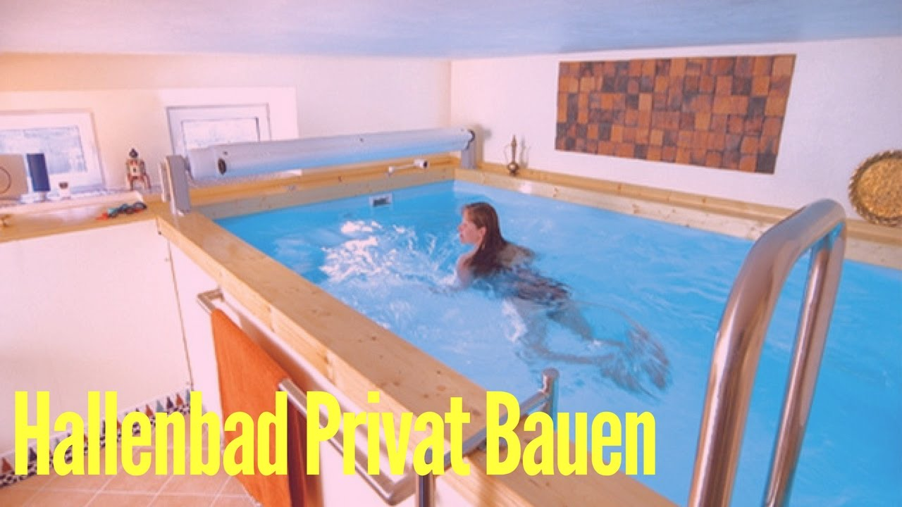 Indoor pool keller  Hallenbad Privat Bauen - YouTube