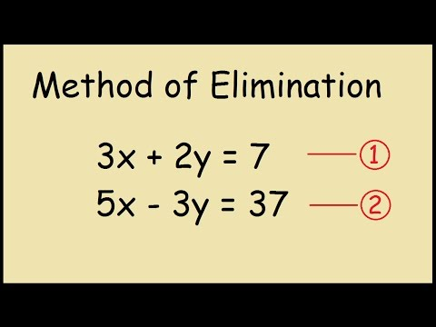 Method of Elimination Steps to Solve Simultaneous Equations