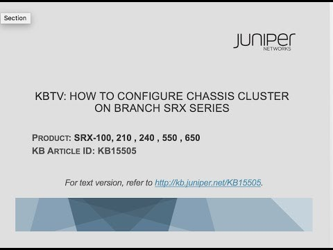 How to configure a high availability chassis cluster on a Juniper Networks SRX210 device