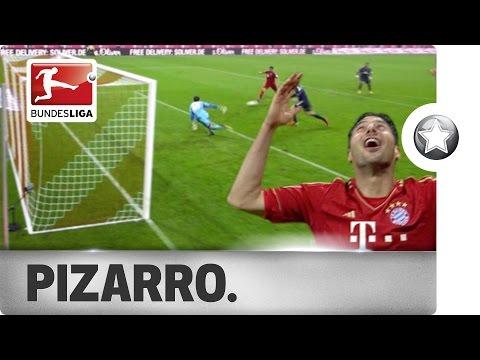 Goal Machine Claudio Pizarro - All 6 of his Bundesliga Hat-Tricks!