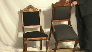 Walnut Victorian Chairs at Old Wood Market in Ohio See oldwoodmarket.com for antique furniture