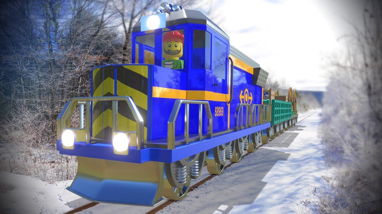 Lego Train cartoon - Pirates cartoon for kids - Choo choo train kids videos