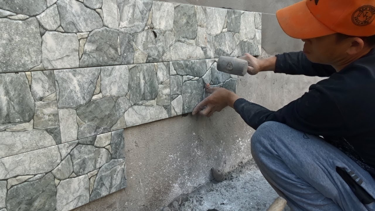 Techniques For Installing Decorative Ceramic Tiles On Concrete Wall    Install Ceramic Tiles Steps