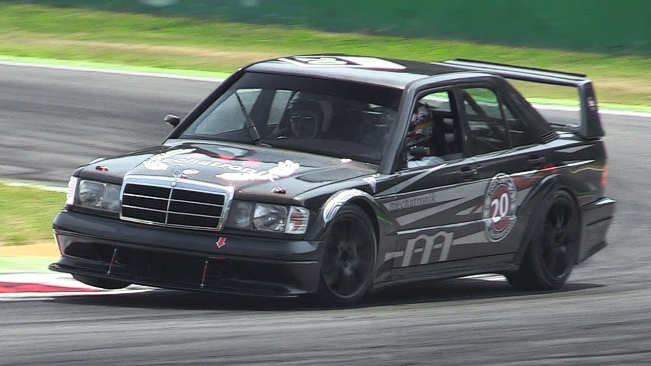 Mercedes 190E 2 5-16 Evolution II w/ DTM Mods - Accelerations & Fly Bys on  Track!
