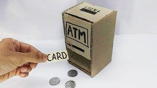 How to make Personal Mini ATM Machine Cardboard | CraftZilla