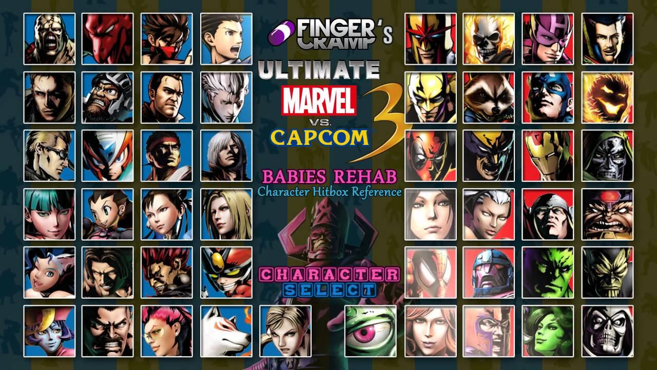 UMVC3 Hitbox Character Select Ultimate Marvel Vs Capcom 3