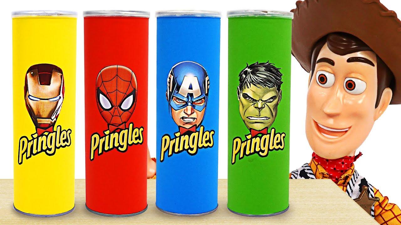 Download Eating Pringles transform into superhero Hulk, Spider-Man, and Iron-Man! | DuDuPopTOY