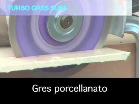 Taglio veloce di gres porcellanato turbo gres slim bauer