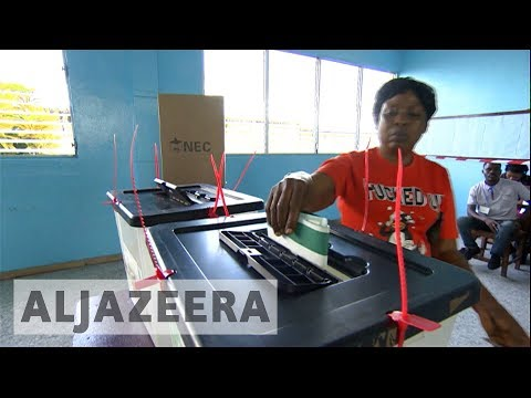 Liberia election: Vote counting under way as polls close