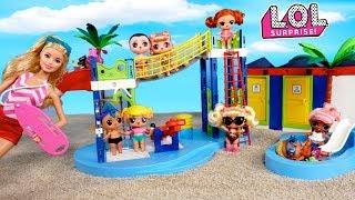 LOL Punk Boi y Bebe Goldie Van de Excursion al Parque de Agua - Jugando con muñecas lol