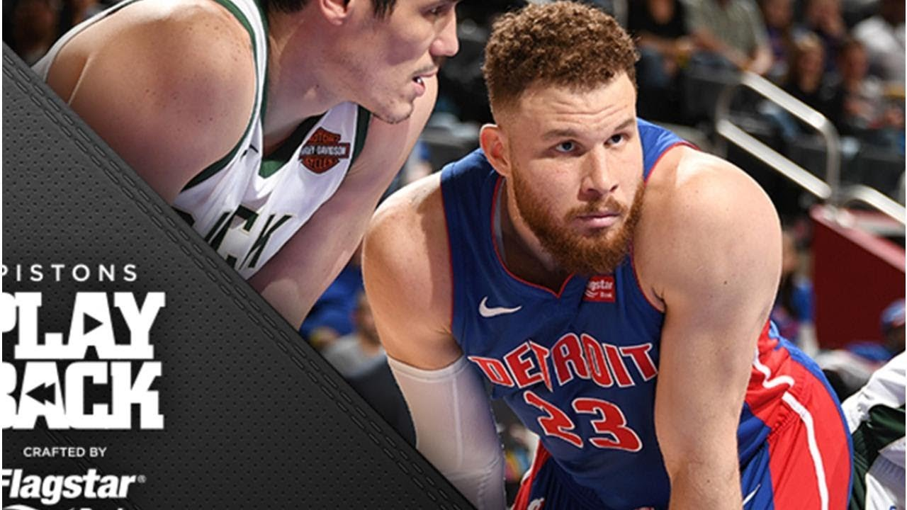 Blake's back, but hyped-up Pistons can't keep pace with high-flying Bucks, down 3-0