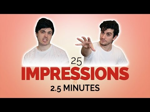 25 Impressions in 2.5 Minutes [Feat. George H. Xanthis!]