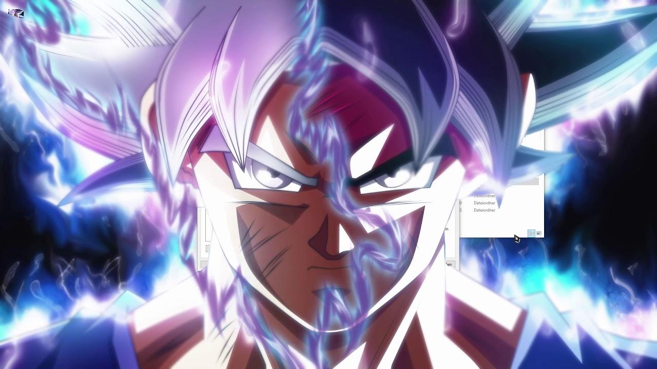 Son Goku Ui Wallpaper Mit 3d Effect Und Audio Visualizer