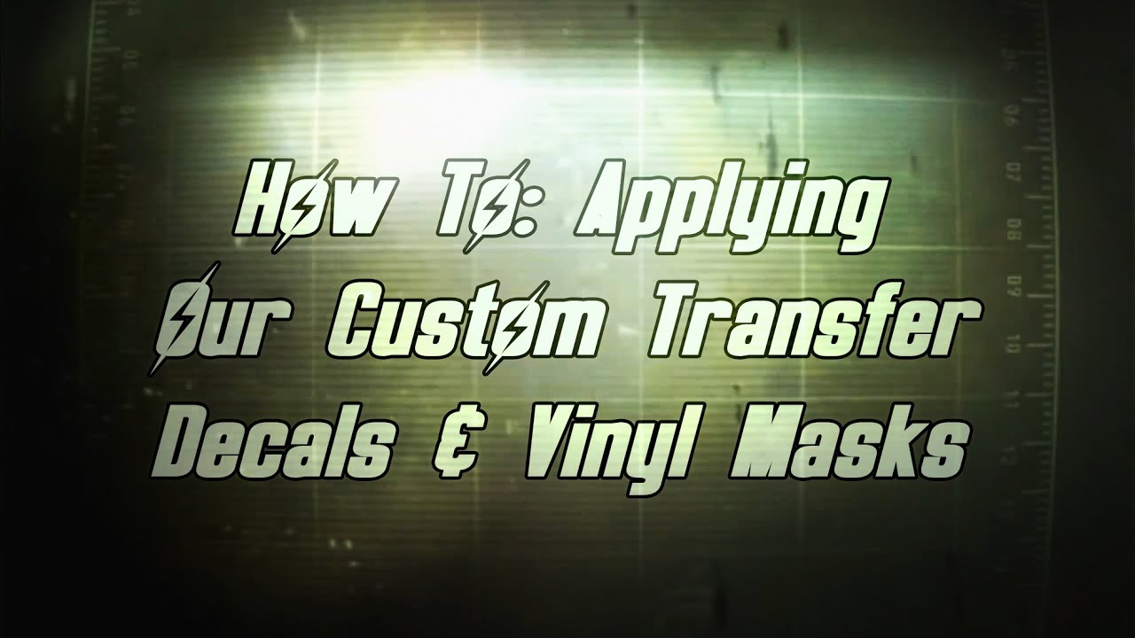 How To: Applying Fallout NCR Veteran Ranger Transfer Decals and Vinyl Masks