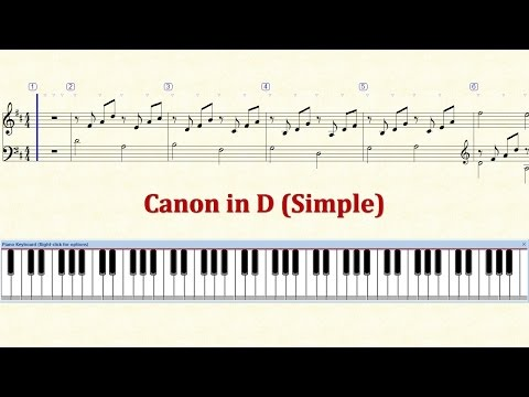 Piano Tutorial Sheet - Canon in D (Simple) - HD
