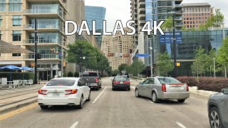Dallas 4k - Skyscraper District Drive - Usa