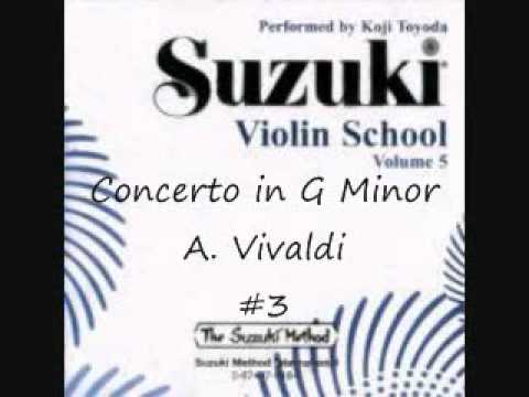 Concerto in G Minor 1st Movement A. Vivaldi - Suzuki Violin School Volume 5 #3