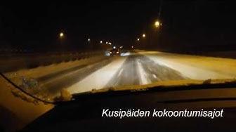 Moottoritie Hki-Tku 12.1.2017 - talven huonoin ajokeli.