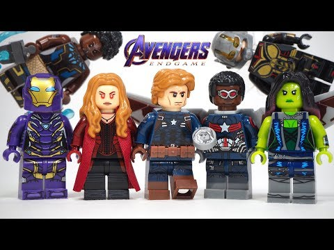 Lego Avengers Endgame Final Battle Scarlet Witch Captain America Stealth Suit Unofficial Minifigures