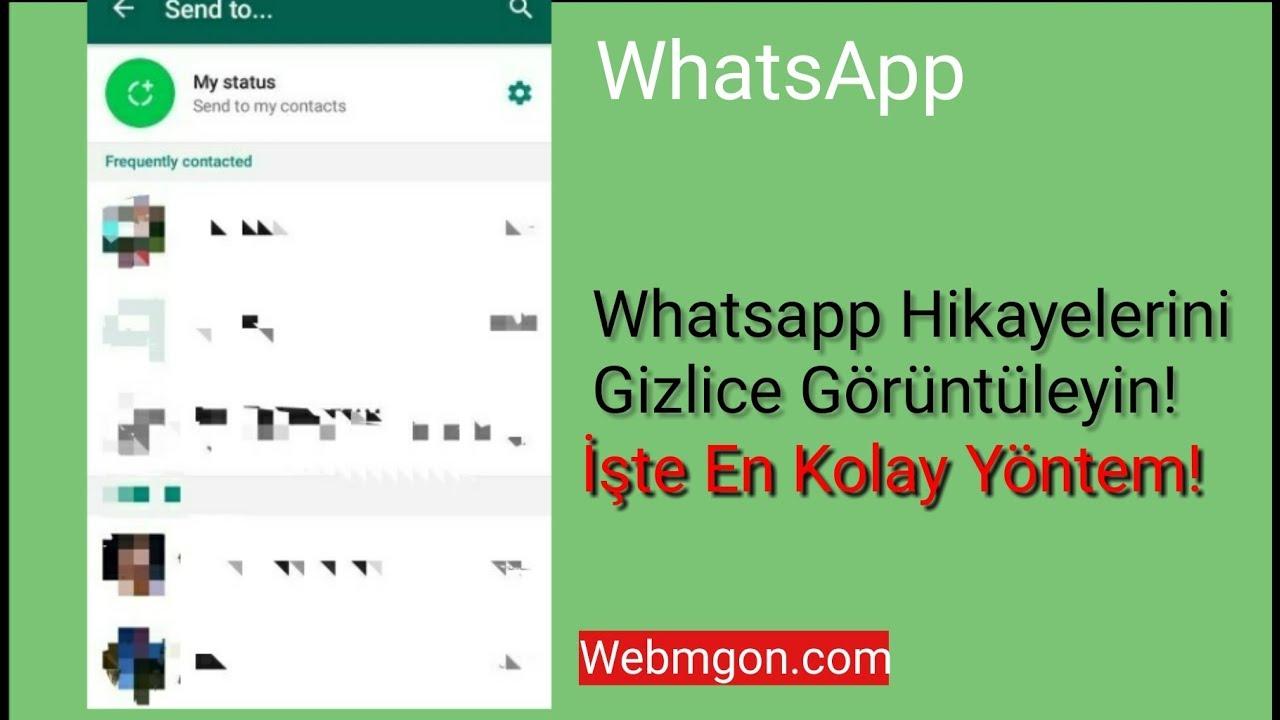 whatsapp durum izleme