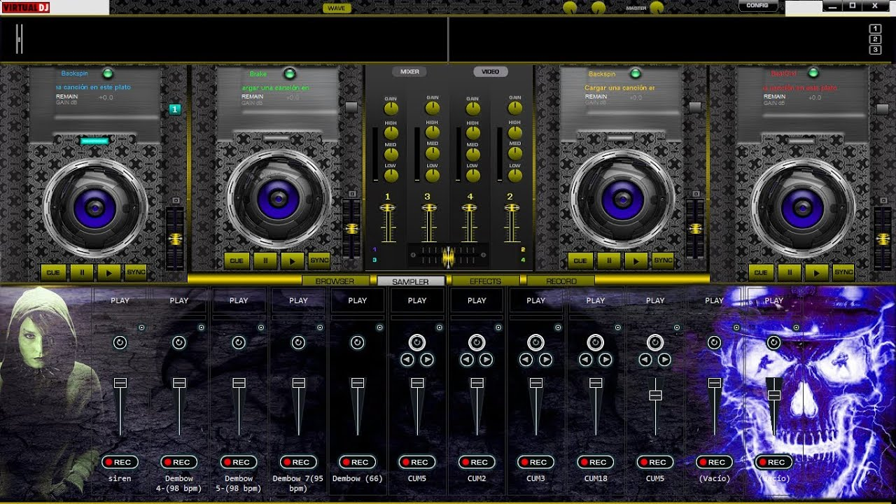 descargar skins para dj virtual pro