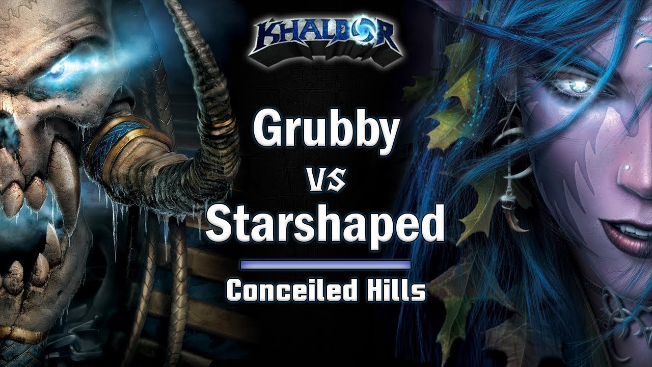 ► WarCraft 3 - Grubby (UD) vs. Starshaped (NE) - Conceiled Hills